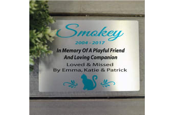 Personalised Cat Memorial Plaque