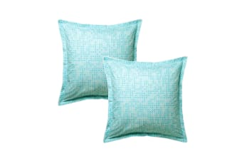 Pair of Montague Mint European Pillowcases 65 x 65 cm by Logan & Mason
