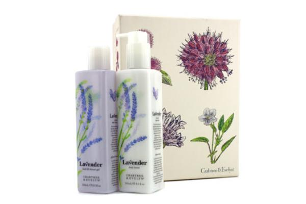 Crabtree & Evelyn Lavender Perfect Pair: Bath & Shower Gel 250ml + Body Lotion 245ml (2pcs)