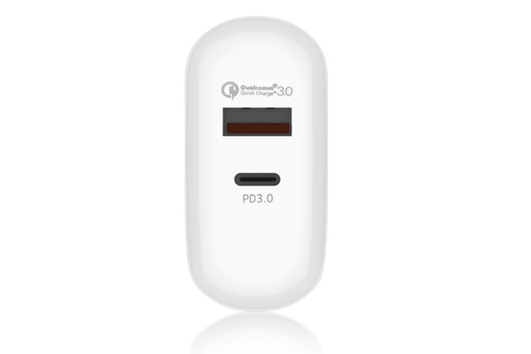 Select Mall PD Charger 24w Fast Charge QC Mobile Phone Charging Head 3.0 Flash Charge USB for Android Phone Apple 8 or Above
