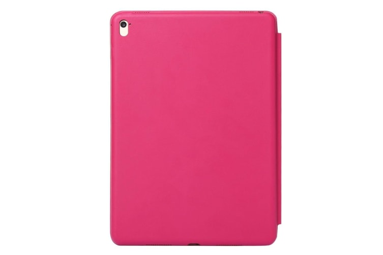 For iPad Pro 12.9 Inch (2018) Case Solid Color PU Leather Folio Cover Magenta