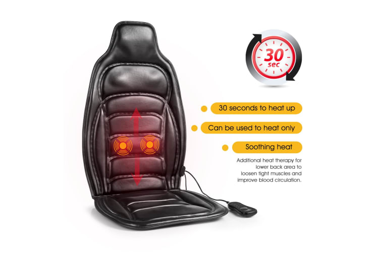Heated Back Seat Massage Chair Cushion Pad