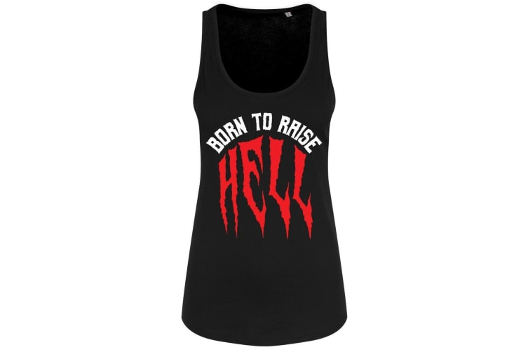 Grindstore Ladies/Womens Born To Raise Hell Floaty Tank (Black) (Small (UK 8-10))