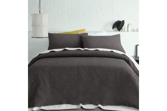 Serah Coverlet Set Queen/King Charcoal by Accessorize