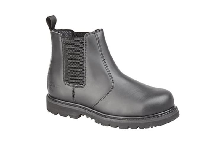 Grafters Mens Safety Chelsea Boots (Black) (14 UK)