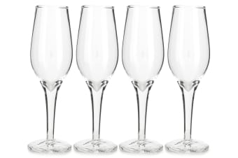 4PK Thumbs Up Champagne Shot Glass Set - Clear