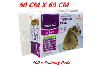 400 x Pet Dog Puppy Indoor Cat Toilet Training Pads ANTIBACTERIAL Absorbent 60x60cm