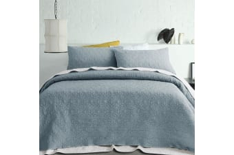 Serah Coverlet Set Queen/King Steel Blue by Accessorize