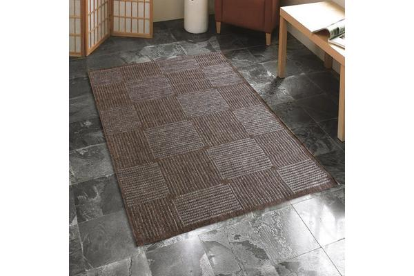 Indoor Outdoor Box Design Rug Brown 160x110cm