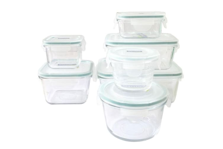 7pc Glasslock Glass Oven Safe Food Snacks Storage Container w Lid Set BPA  Free