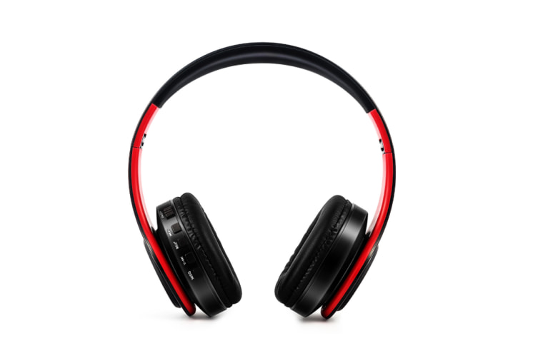 Folding Stereo Wireless Bluetooth Headphones Over Ear with Microphone and Volume Control