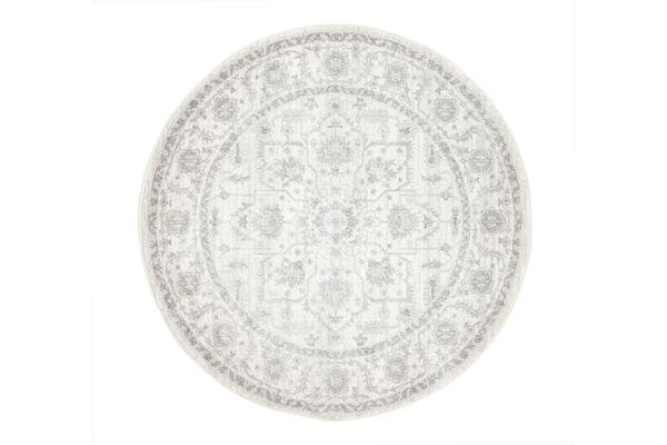 Winter White Transitional Rug 150x150cm