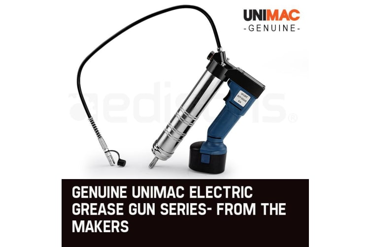 UNIMAC Grease Gun Cordless Battery 12v Electric Rechargeable