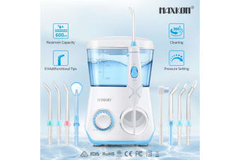 Water Flosser Electric Dental Teeth Oral Irrigator Tooth Cleaner 600ml Capacity w/10 Pressure Settings