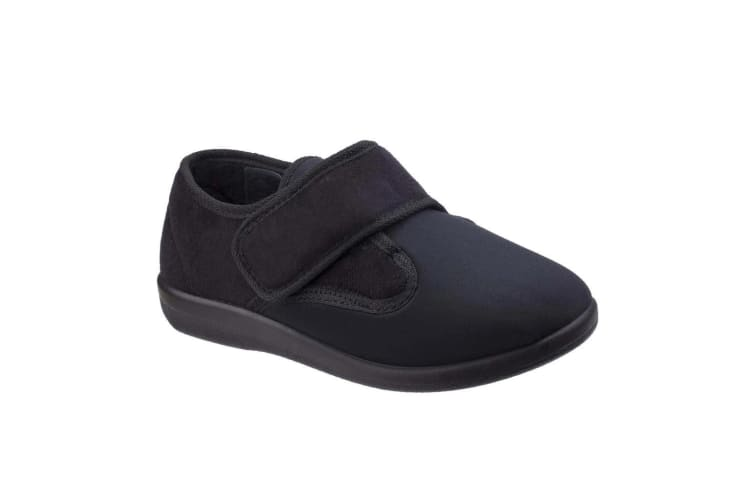 Great British Slippers Frenchay Ladies Classic Slippers (Black) (46 EUR)