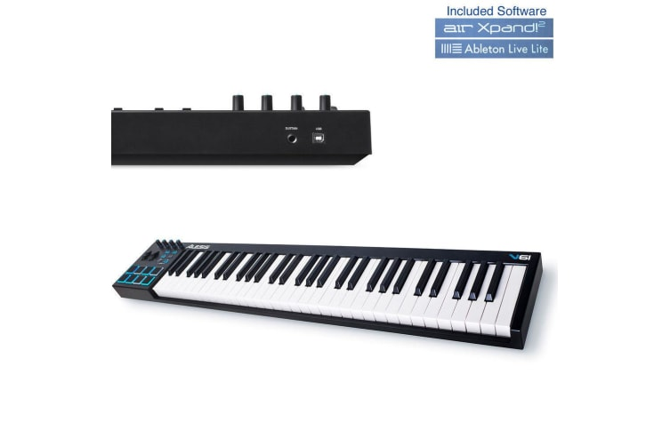 Alesis V61 61 Key Usb Full Size Keyboard/MIDI Controller Play/Remix/Record Music