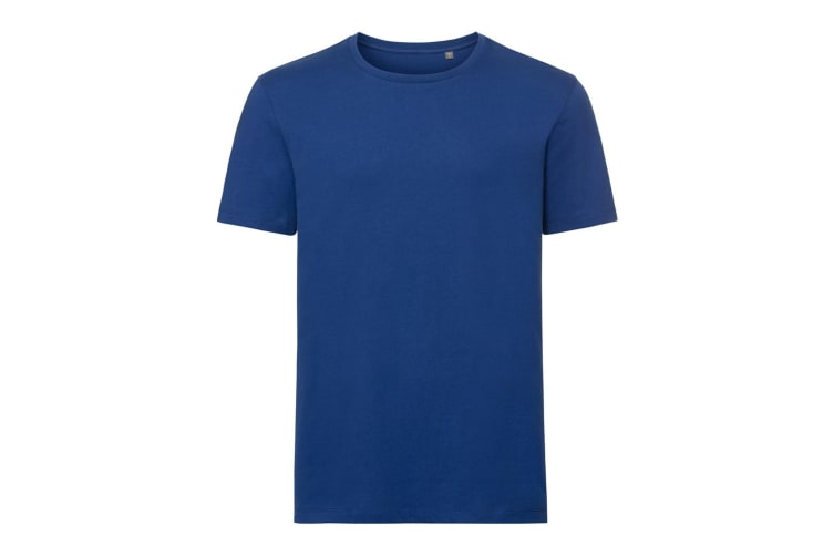 Russell Mens Authentic Pure Organic T-Shirt (Bright Royal) (XXL)