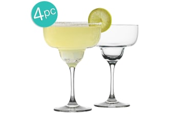 4pc Ecology Classic 340ml Clear Cocktail Glass Margarita Glasses Glassware Set
