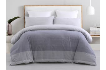 Dreamaker Yarn Dyed quilt cover set Queen Bed  WENTWORTH