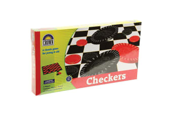 Crown Checkers Board Portable Strategy Game Kids/Children 7y+ Checkerboard Toys