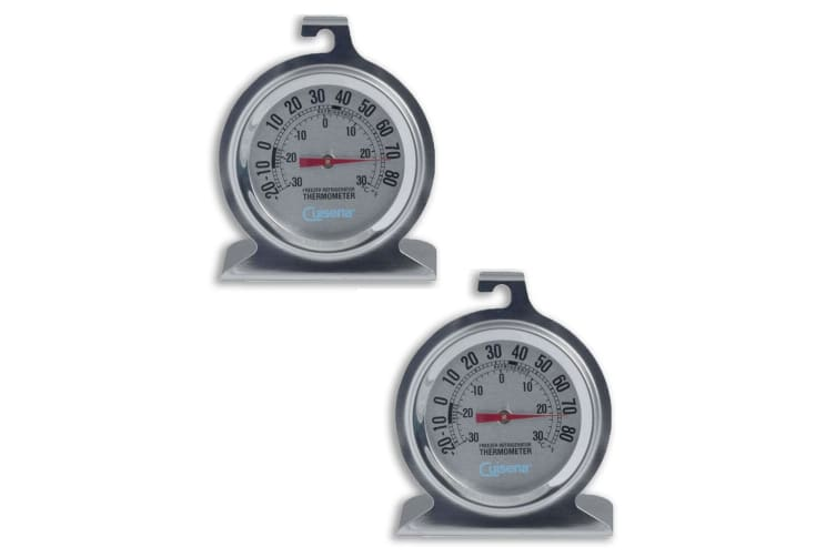 2PK Cuisena Fridge Freezer Celsius Temperature Thermometer Stainless Steel