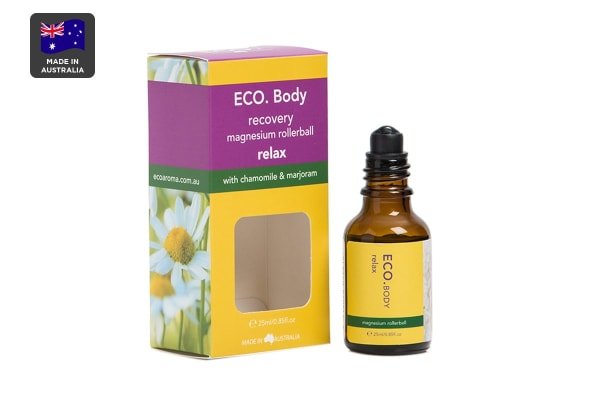 ECO. Relax Magnesium Roller Ball with Chamomile & Marjoram Essential Oil (25ml)