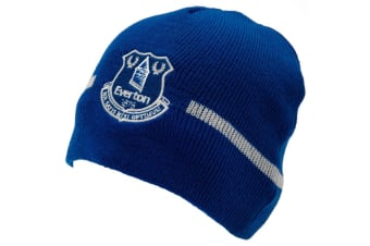 Everton FC Official Adults Unisex Knitted Hat (Blue/White)