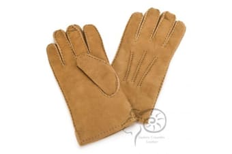 Eastern Counties Leather Mens 3 Point Stitch Sheepskin Gloves (Tan)