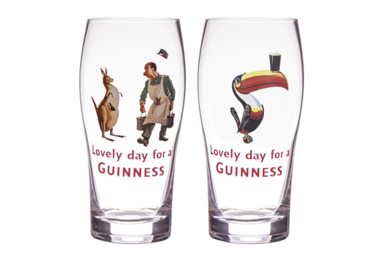 4pc Guinness Gilroy 568ml Pint Glasses Beer Party Bar Pub Mug Drinking Cup Clear