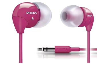 Philips SHE3590PK Earphones Headphones Earbuds for MP3 Audio CD Player Pink