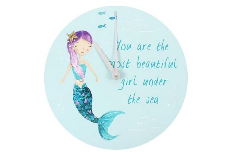 Something Different Melody the Mermaid You Are The Most Beautiful Girl Under The Sea Wall Clock (Multicolour) (One Size)