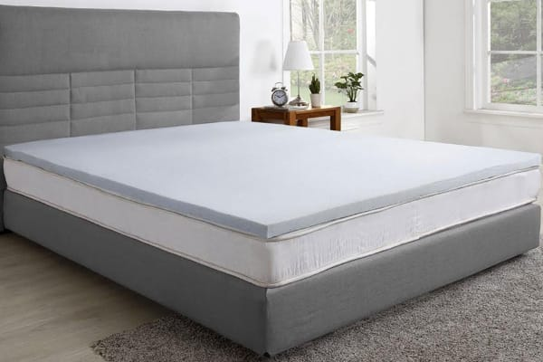 ovela gel infused memory foam mattress topper queen