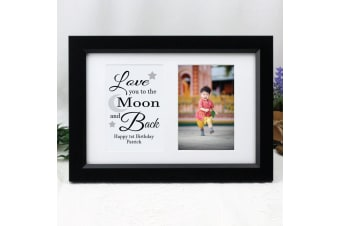 Love You Photo Frame Typography Print 4x6 Black