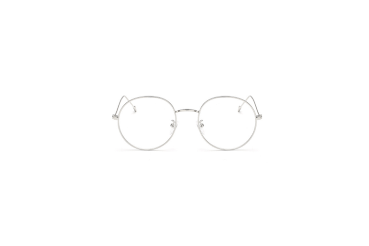 Classic Round Shape Metal Frame Nearsighted Myopia Glasses - 4 Silver 350 Degrees Myopia