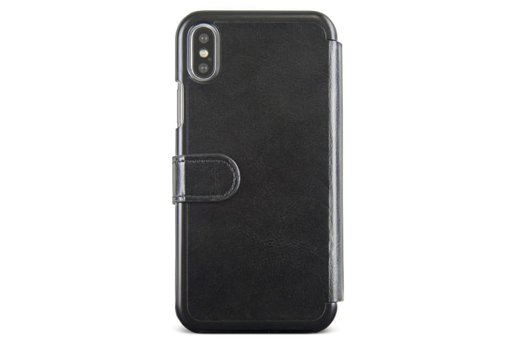 Gecko Deluxe Folio Case Wallet for iPhone X - Black