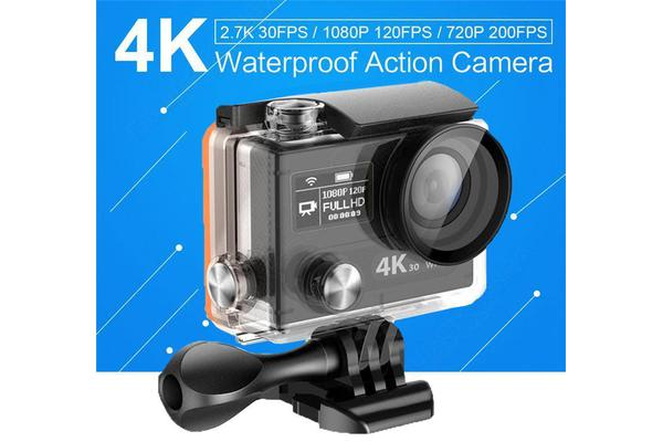 H8 Ultra 4K 30Fps Imx078 12 Million Pixels Wifi 360Vr 1080P Sport Camera Black