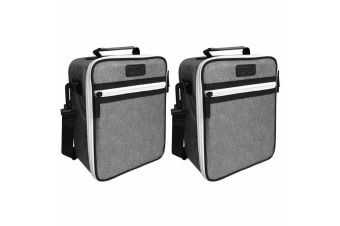 2PK Sachi Thermal Insulated Junior Picnic Lunchbox Tote Carry Case Bag Charcoal