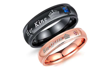 Her King His Queen Jewelry Couple Rings His Queen 7