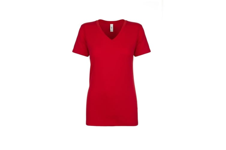 Next Level Womens/Ladies Ideal V-Neck T-Shirt (Red) (M)