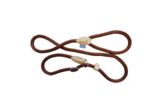 Dog & Co Rope Dog Walking Slip Lead (Brown/Tan) (One Size)