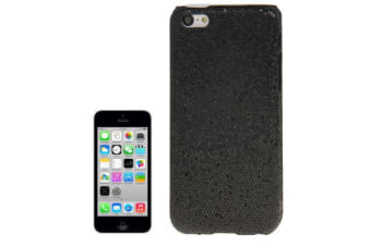 For iPhone 5C Back Case Bright  Glittery Modern Durable Shielding Cover Black