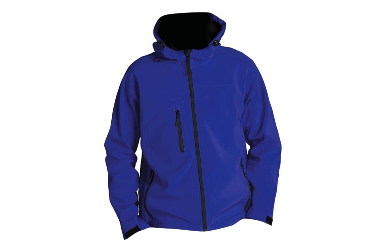 SOLS Mens Replay Hooded Soft Shell Jacket (Breathable  Windproof And Water Resistant) (Royal Blue) (L)