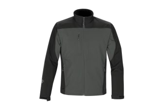 Stormtech Mens Edge Softshell Jacket (Waterproof And Breathable) (Graphite Grey/Black)