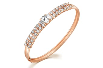Graceful Princess Bangle-Rose Gold/Clear
