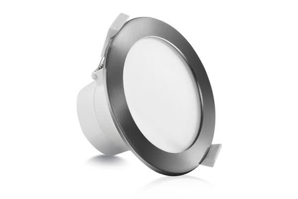 20 x LUMEY LED Downlight Kit Daylight White 12W Silver