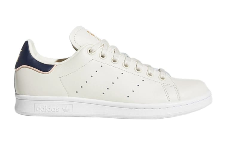 Adidas Originals Women's Stan Smith Shoes (Chalk White/Collegiate Navy, Size 5.5 UK)