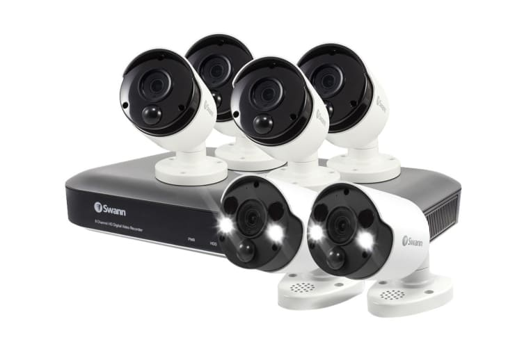 Swann 8 Channel 4K Ultra HD DVR Security System with 6 x 4K Thermal Sensing Security Cameras (SWDVK-855804B2FB-AU)
