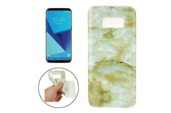 For Samsung Galaxy S8 Case Elegant Marble Pattern Durable Protective Cover Brown