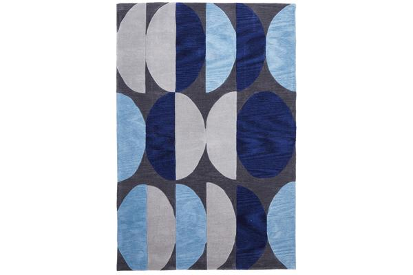 Eclipse Modern Rug Blue Navy Grey 280x190cm