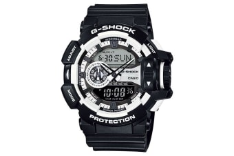 Casio G-Shock Analogue/Digital Mens Black/White Watch GA400-1A GA-400-1ADR